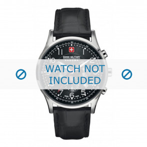 Pasek do zegarka Swiss Military Hanowa 06-4187.04.007 Skórzany Czarny 22mm