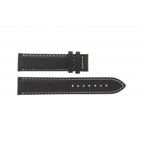 Tissot horlogeband T014.410.16.037.00 - T610025416 Leder Donkerbruin 19mm + wit stiksel