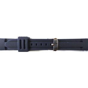 Pasek Do Zegarka Guma 22mm Niebieski Pvk Ds253