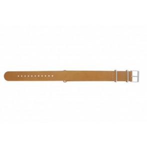 Timex Pasek Do Zegarka T2P492 Skóra Brązowy 20mm