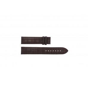 Tissot horlogeband T065.430.A - T610029096 / T065.430.160.310.0 Croco leder Bruin 19mm