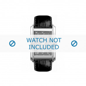 Tommy Hilfiger horlogeband TH-17-1-14-0631 / TH679300840 / TH1710126 Leder Zwart + zwart stiksel