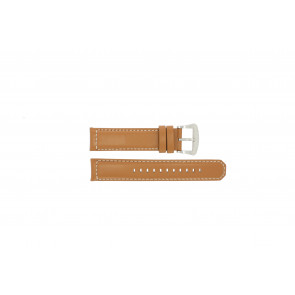 Pasek do zegarka Seiko V172-0AG0 / SSC081P1 / L088011J0 Skórzany Brązowy 21mm