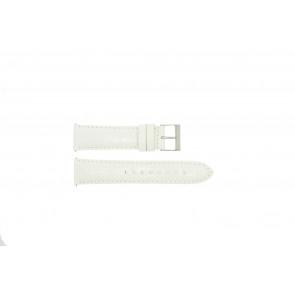 Guess Pasek Do Zegarka W85053G2 Skóra Biały 22mm