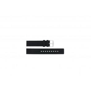 Pasek do zegarka Uniwersalny 21901.01.18 / 6826 Krzem Czarny 18mm