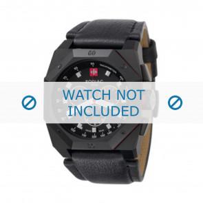 Zodiac horlogeband ZO1800 Leder Zwart + zwart stiksel