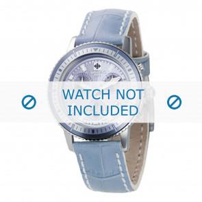 Zodiac horlogeband ZO2811 Leder Blauw + wit stiksel