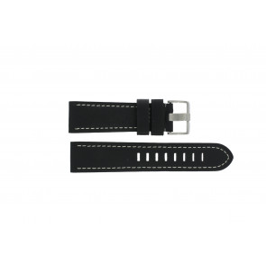 Pasek do zegarka Prisma ZWST23 Skórzany Czarny 24mm